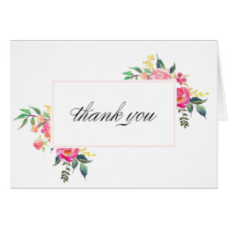 Bohemian Floral Thank You Cards