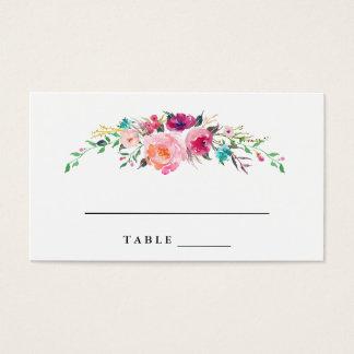 Bohemian Floral Wedding Escort Cards