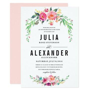 blush_printables Bohemian Floral Wedding Invitation