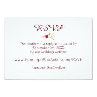 Bohemian Floral Wedding Website RSVP Card