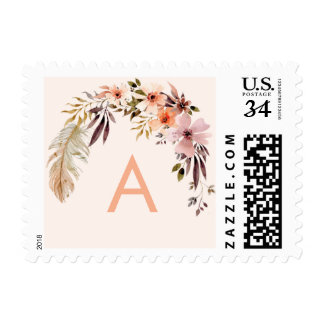 Bohemian Floral Wreath Stamp