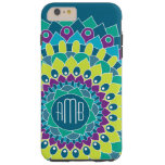 Bohemian Flower with Monograms Tough iPhone 6 Plus Case