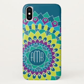 Bohemian Flower with Monograms iPhone X Case