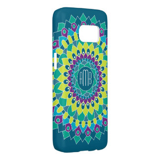 Bohemian Flower with Monograms Samsung Galaxy S7 Case