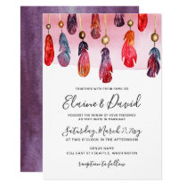 Bohemian free spirit wedding invitations