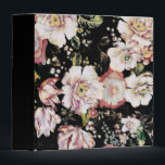 """bohemian french country chic black floral 3 ring binder<br><div class=""""desc"""">bohemian french country chic black floral home accessories. Cottage floral fashion accessories for romantic summer style.</div>"""