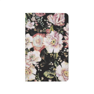 bohemian french country chic black floral journal