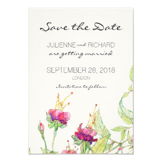 Bohemian Garden | Floral Save the Date Card
