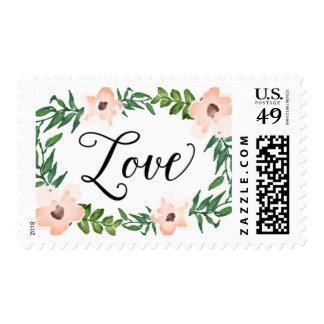 Bohemian Garden Love Postage Stamp
