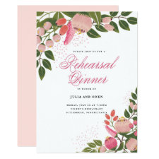 Bohemian Garden Rehearsal Dinner Invitation