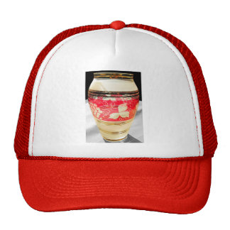 Bohemian Glass with Flower Pattern, Natural Colour Hats