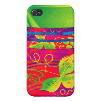 Bohemian Glass with Flower Pattern, Stylised (1) iPhone 4 Covers