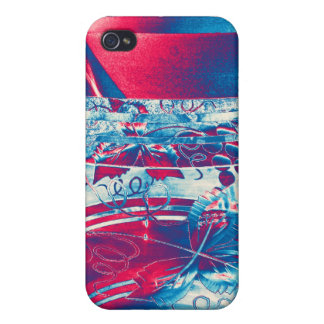 Bohemian Glass with Flower Pattern, Stylised (3) Case For iPhone 4