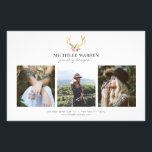 """Bohemian Gold Antlers Jewelry Boutique Photo Flyer<br><div class=""""desc"""">Coordinates with the Bohemian Gold Antlers with Flowers Business Card Template by 1201AM. An illustration of deer antlers in faux metallic gold is combined with a bouquet of flowers to provide a bohemian aesthetic on this customizable flyer template. Replace the stock photos with your own images to help promote your...</div>"""