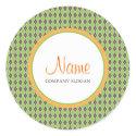 Bohemian Green Envelope | Merchandise Seal sticker