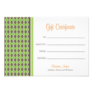 Bohemian Green Gift Certificate Invitations