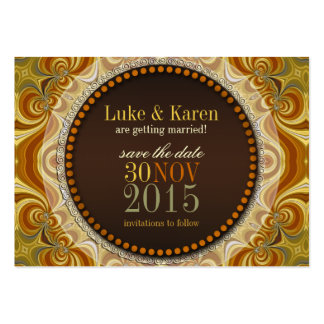 Bohemian Groove Swirls Save the Date Announce Card