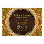 Bohemian Groove Swirls Save the Date Announce Card Business Card Templates