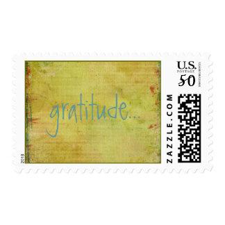 Bohemian Grunge Gratitude Postage Stamps