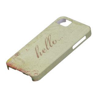 Bohemian Hello Green Aqua iPhone 5  Case iPhone 5 Cases