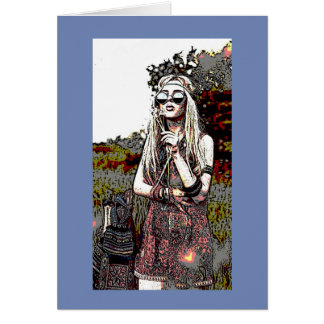 Bohemian Hippy All Occasion Greeting Card