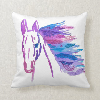 Bohemian Horse Pillow By Megaflora