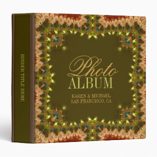 Bohemian Lace Ruffles Photo Album Binder