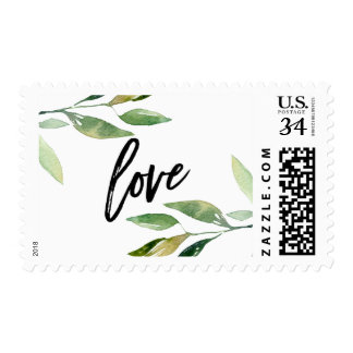 Bohemian Leaves Love Postage