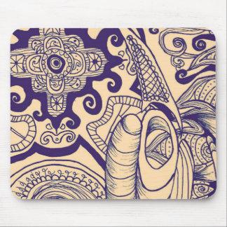 Bohemian Mandala Mouse Pad