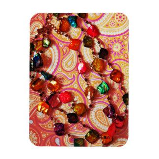 Bohemian Necklace Gemstone Paisley Photo Magnet