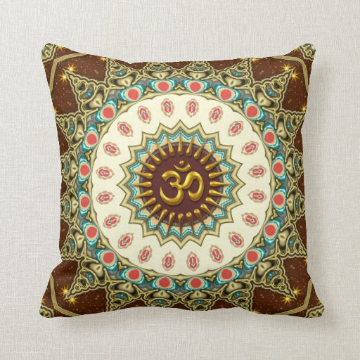 Bohemian OM Mandala Cushion / Pillow