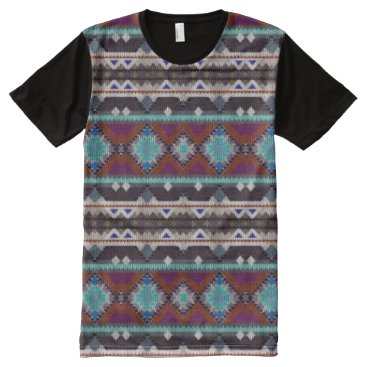 Aztec Themed Bohemian ornament in ethno-style, Aztec All-Over-Print Shirt