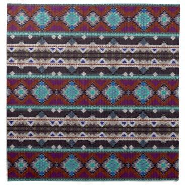 Aztec Themed Bohemian ornament in ethno-style, Aztec Cloth Napkin