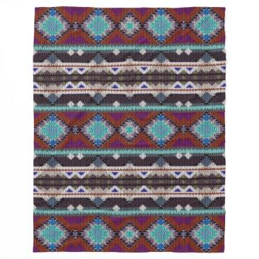 Aztec Themed Bohemian ornament in ethno-style, Aztec Fleece Blanket