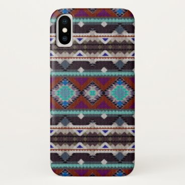 Aztec Themed Bohemian ornament in ethno-style, Aztec iPhone X Case