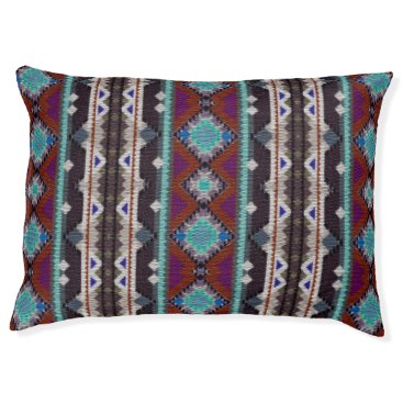 Aztec Themed Bohemian ornament in ethno-style, Aztec Pet Bed
