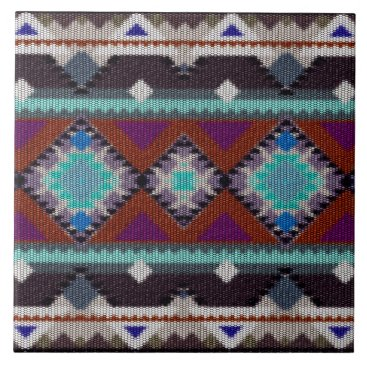 Aztec Themed Bohemian ornament in ethno-style, Aztec Tile