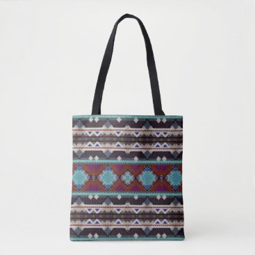 Aztec Themed Bohemian ornament in ethno-style, Aztec Tote Bag