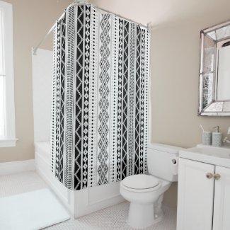 Bohemian Ornament Shower Curtain