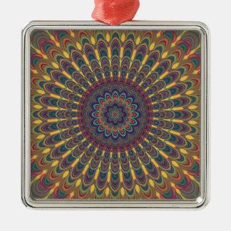 Bohemian oval mandala metal ornament