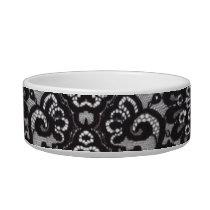 bohemian parisian floral victorian black lace bowl