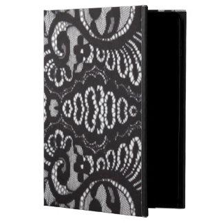bohemian parisian floral victorian black lace iPad air cover