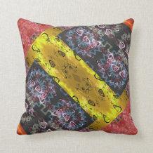 Bohemian Patchwork Throw Pillow