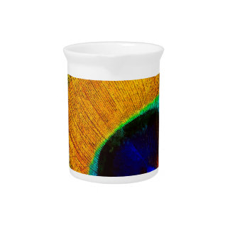 Bohemian Peacock Yellow Beverage Pitcher