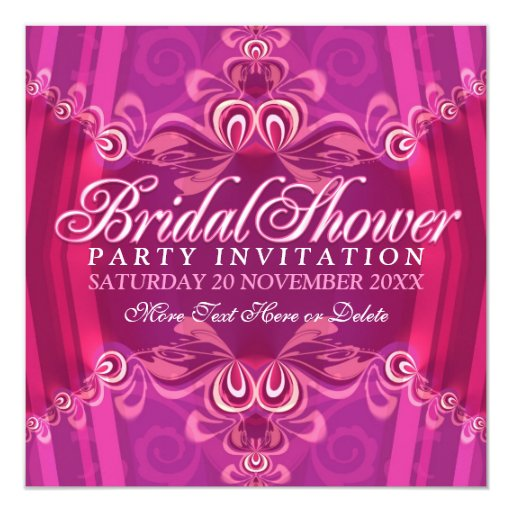 Bohemian Pink Bridal Shower Party Invitation