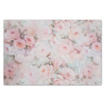 Bohemian Pink Teal Vintage Floral Pattern Tissue Paper at Zazzle