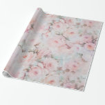 Bohemian Pink Teal Vintage Floral Pattern Wrapping Paper at Zazzle