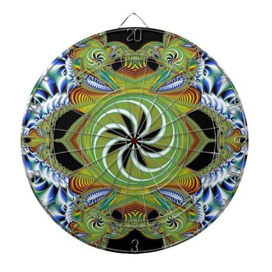 Bohemian Pinwheel Dartboard With Darts