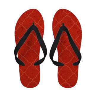 Bohemian Quatrefoile Grunge Premium Flip Flops