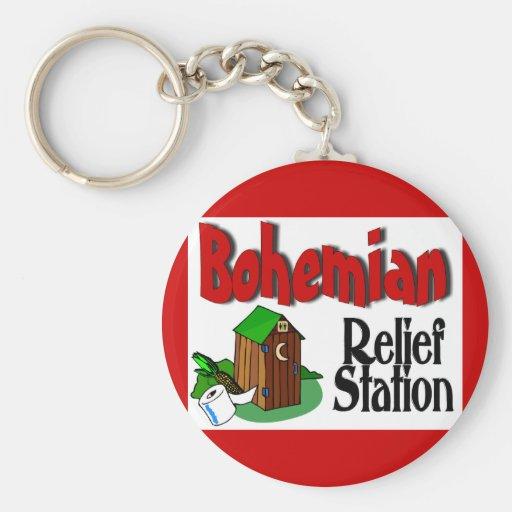 Bohemian Relief Station Key Chain